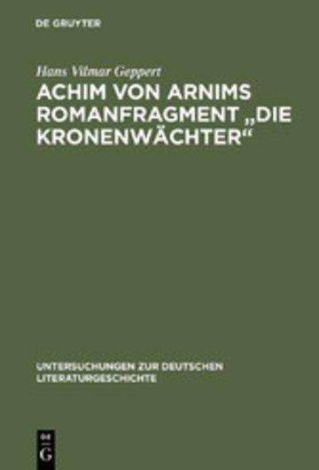eBook Achim von Arnims Romanfragment 'Die Kronenwächter' Cover