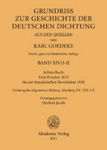 eBook Achtes Buch: Vom Frieden 1815 bis zur französischen Revolution 1830 Cover