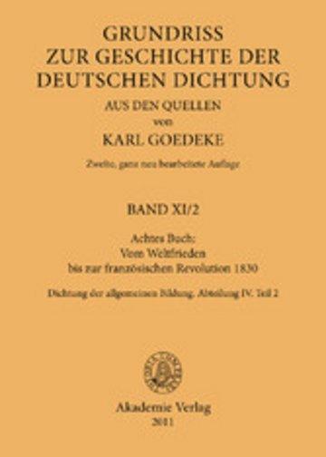 eBook Achtes Buch: Vom Weltfrieden bis zur französischen Revolution 1830 Cover