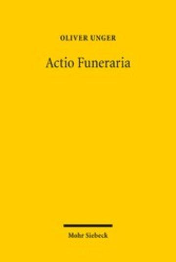 eBook Actio Funeraria Cover