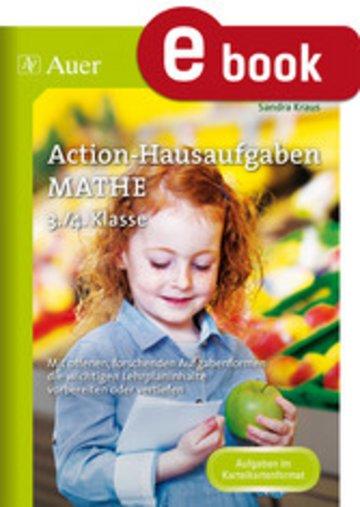eBook Action-Hausaufgaben Mathe 3+4 Cover