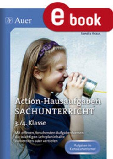 eBook Action-Hausaufgaben Sachunterricht 3+4 Cover