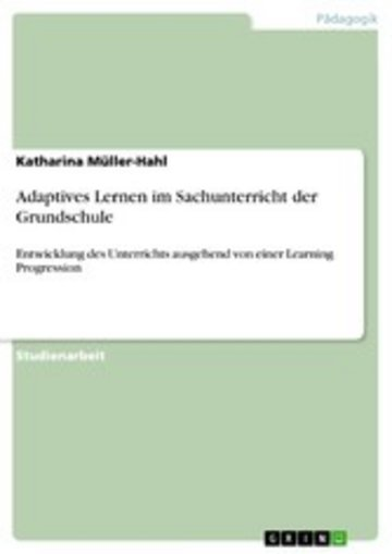 eBook Adaptives Lernen im Sachunterricht der Grundschule Cover