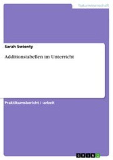 eBook Additionstabellen im Unterricht Cover