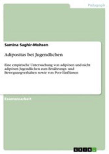 eBook Adipositas bei Jugendlichen Cover