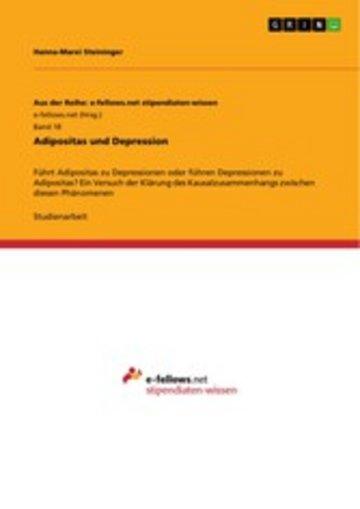 eBook Adipositas und Depression Cover