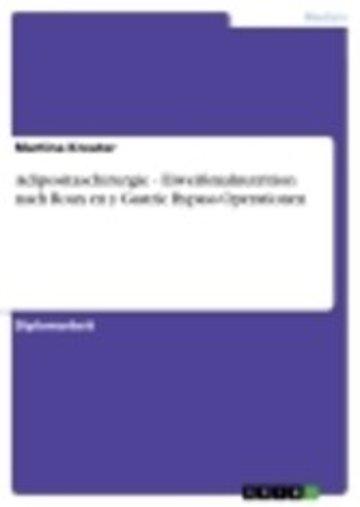 eBook Adipositaschirurgie - Eiweißmalnutrition nach Roux en y Gastric Bypass Operationen Cover
