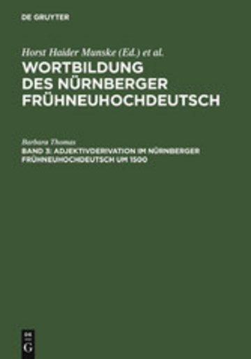 eBook Adjektivderivation im Nürnberger Frühneuhochdeutsch um 1500 Cover