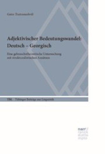eBook Adjektivischer Bedeutungswandel: Deutsch - Georgisch Cover