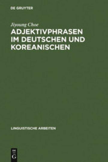 eBook Adjektivphrasen im Deutschen und Koreanischen Cover