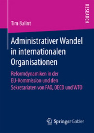 eBook Administrativer Wandel in internationalen Organisationen Cover