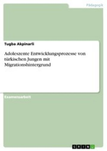 eBook Adoleszente Entwicklungsprozesse von türkischen Jungen mit Migrationshintergrund Cover
