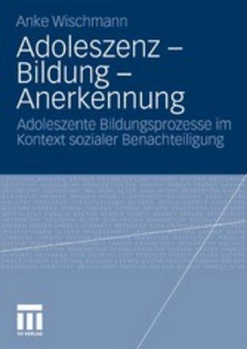 eBook Adoleszenz - Bildung - Anerkennung Cover