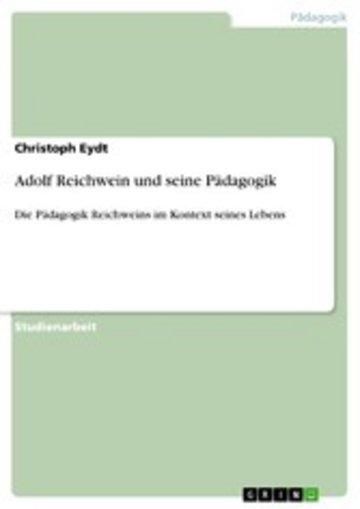 eBook Adolf Reichwein und seine Pädagogik Cover