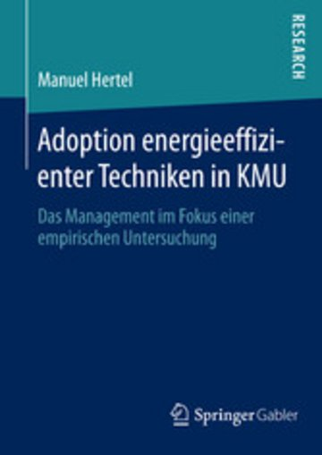 eBook Adoption energieeffizienter Techniken in KMU Cover