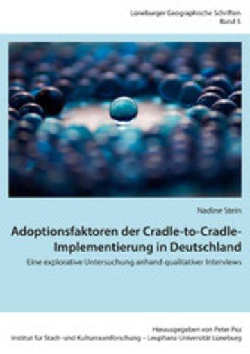 eBook Adoptionsfaktoren der Cradle-to-Cradle-Implementierung in Deutschland Cover