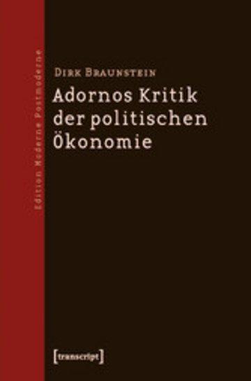 eBook Adornos Kritik der politischen Ökonomie Cover
