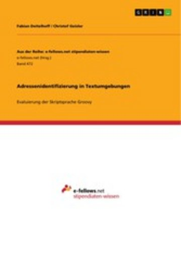 eBook Adressenidentifizierung in Textumgebungen Cover