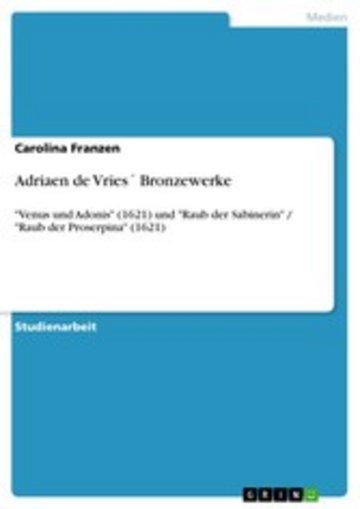 eBook Adriaen de Vries´ Bronzewerke Cover