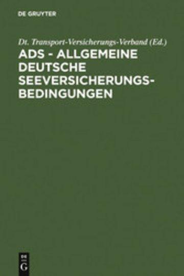 eBook ADS - Allgemeine Deutsche Seeversicherungs-Bedingungen Cover