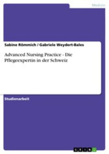 eBook Advanced Nursing Practice - Die Pflegeexpertin in der Schweiz Cover