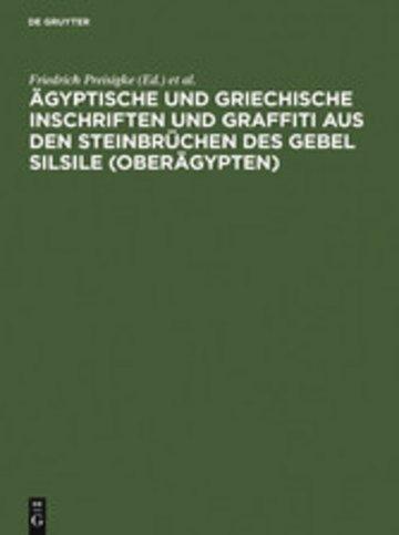 eBook Ägyptische und griechische Inschriften und Graffiti aus den Steinbrüchen des Gebel Silsile (Oberägypten) Cover
