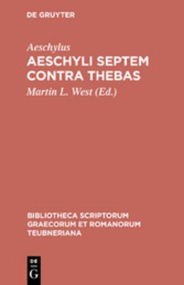 eBook Aeschyli Septem contra Thebas Cover