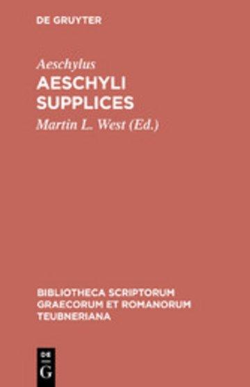 eBook Aeschyli Supplices Cover