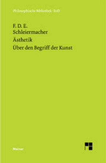 eBook Ästhetik (1819/25). Über den Begriff der Kunst (1831/32) Cover