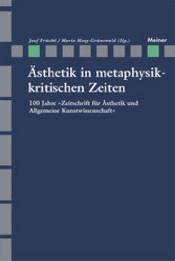 eBook Ästhetik in Metaphysikkritischen Zeiten Cover