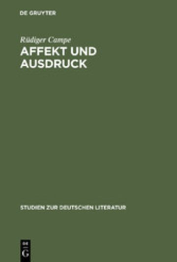 eBook Affekt und Ausdruck Cover
