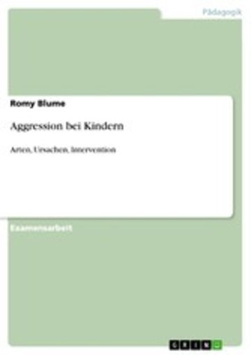 eBook Aggression bei Kindern Cover