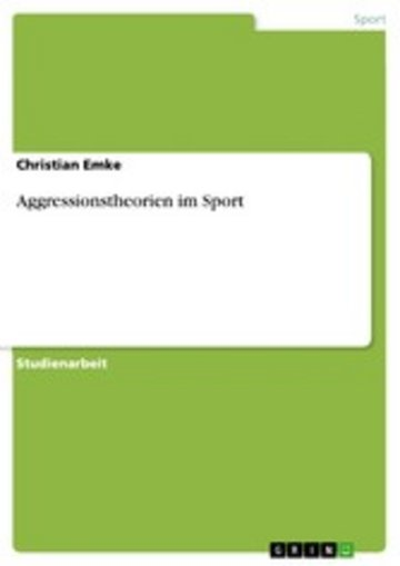 eBook Aggressionstheorien im Sport Cover