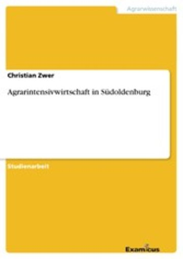 eBook Agrarintensivwirtschaft in Südoldenburg Cover