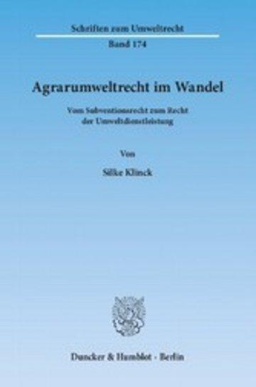 eBook Agrarumweltrecht im Wandel. Cover