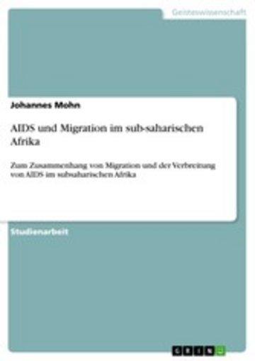 eBook AIDS und Migration im sub-saharischen Afrika Cover