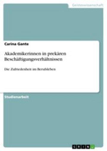 eBook Akademikerinnen in prekären Beschäftigungsverhältnissen Cover