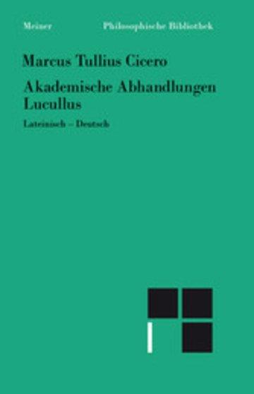eBook Akademische Abhandlungen. Lucullus Cover