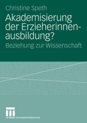eBook Akademisierung der Erzieherinnenausbildung? Cover
