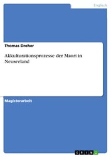 eBook Akkulturationsprozesse der Maori in Neuseeland Cover