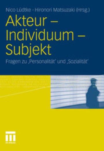 eBook Akteur - Individuum - Subjekt Cover