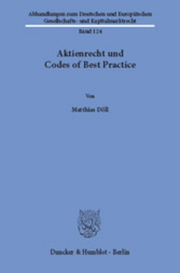 eBook Aktienrecht und Codes of Best Practice. Cover