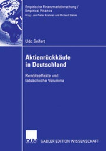 eBook Aktienrückkäufe in Deutschland Cover
