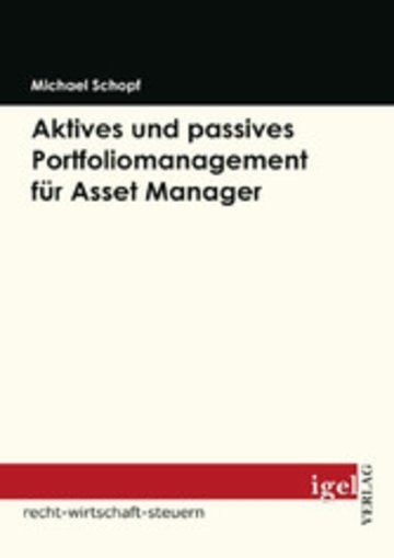 eBook Aktives und passives Portfoliomanagement für Asset Manager Cover