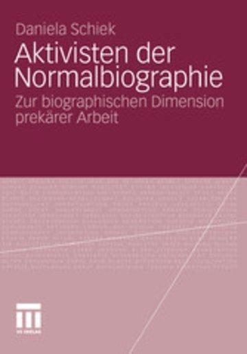 eBook Aktivisten der Normalbiographie Cover