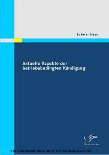 eBook Aktuelle Aspekte der betriebsbedingten Kündigung Cover