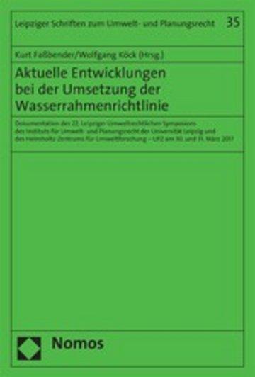 eBook Aktuelle Entwicklungen bei der Umsetzung der Wasserrahmenrichtlinie Cover