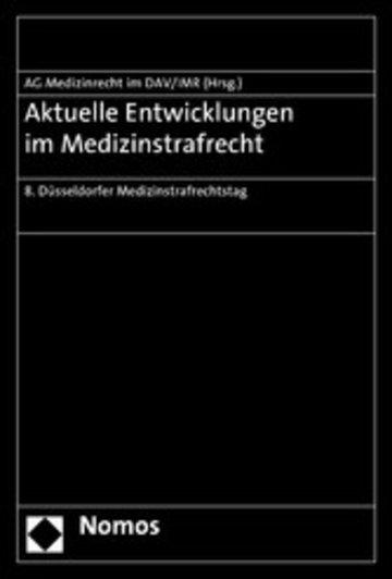 eBook Aktuelle Entwicklungen im Medizinstrafrecht Cover