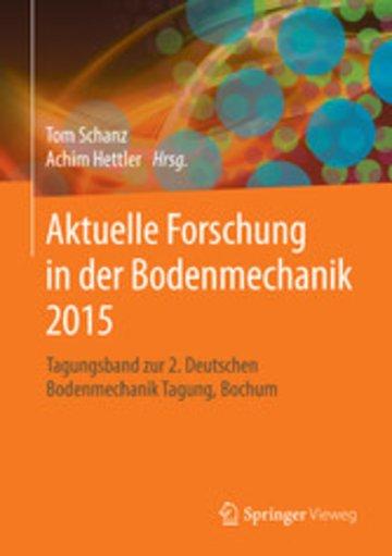 eBook Aktuelle Forschung in der Bodenmechanik 2015 Cover