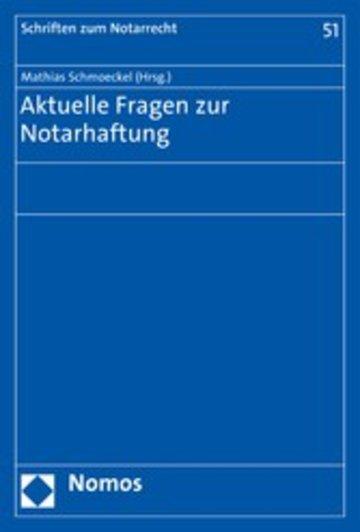 eBook Aktuelle Fragen zur Notarhaftung Cover